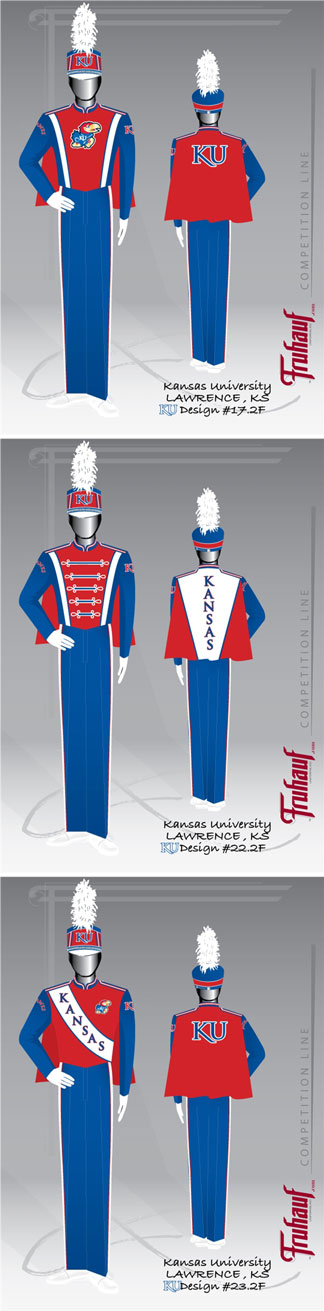 renderings of new band uniforms