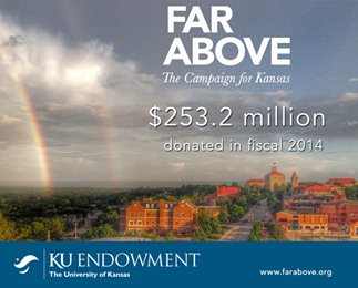 Far Above graphic stating $253.2 million raised in FY14